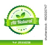 all natural badge label seal... | Shutterstock .eps vector #482020747