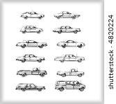 3d vector cars | Shutterstock . vector #4820224
