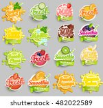 big set of chocolate  banana ... | Shutterstock .eps vector #482022589