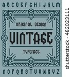 original retro typeface set... | Shutterstock .eps vector #482023111