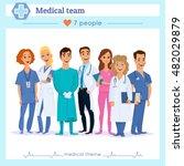 team of doctors  nurses and... | Shutterstock .eps vector #482029879
