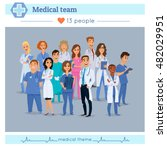 group of doctors  nurses and... | Shutterstock .eps vector #482029951