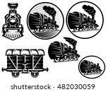 set of templates with retro... | Shutterstock . vector #482030059