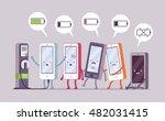 smartphones are charging near... | Shutterstock .eps vector #482031415