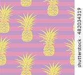 pineapple   vector illustration | Shutterstock .eps vector #482034319