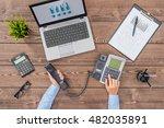 overhead shot of business... | Shutterstock . vector #482035891