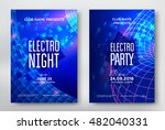 electro night and electro party ... | Shutterstock .eps vector #482040331