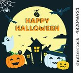 halloween concept banner with... | Shutterstock .eps vector #482046931