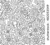 cartoon cute hand drawn cinema... | Shutterstock .eps vector #482053549