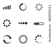 loading vector icons. simple... | Shutterstock .eps vector #482055211