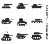 tank vector icons. simple...