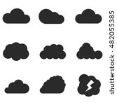 cloud vector icons. simple...
