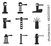 lighthouse vector icons. simple ... | Shutterstock .eps vector #482055397