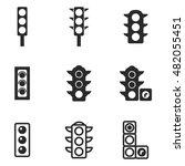 traffic light vector icons....