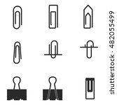 clip vector icons. simple...