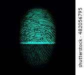 finger print scanning... | Shutterstock .eps vector #482056795