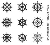 wheel ship vector icons. simple ...