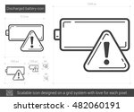 discharged battery vector line... | Shutterstock .eps vector #482060191