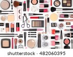 makeup cosmetics  brushes and... | Shutterstock . vector #482060395