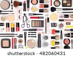makeup cosmetics  brushes and... | Shutterstock . vector #482060431