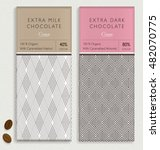 chocolate bar packaging mock up.... | Shutterstock .eps vector #482070775