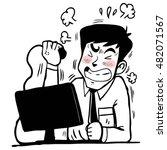 man stressed | Shutterstock .eps vector #482071567