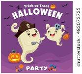 vintage halloween poster design ...   Shutterstock .eps vector #482072725