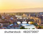 View Of Florence At Sunset With ...