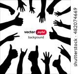 hands joyful people | Shutterstock .eps vector #482074669