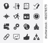 work flow vector icon  | Shutterstock .eps vector #482078575