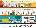 harvest farm animals products... | Shutterstock .eps vector #482080645
