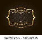 blank golden vintage frame ... | Shutterstock .eps vector #482082535