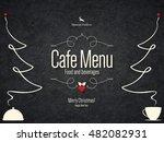special christmas festive menu... | Shutterstock .eps vector #482082931