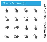 touch screen  touch gesture... | Shutterstock .eps vector #482084719