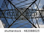 giant high voltage tower ... | Shutterstock . vector #482088025