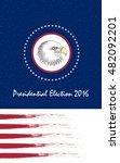 vote presidential election....   Shutterstock .eps vector #482092201