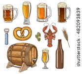 set with colorful beer icons.... | Shutterstock .eps vector #482093839