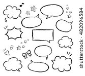 set of speech bubbles in... | Shutterstock .eps vector #482096584