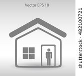 home vector icon | Shutterstock .eps vector #482100721
