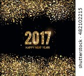 new year card with glittering... | Shutterstock .eps vector #482102215