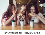 Three Cheerful Young Girls...