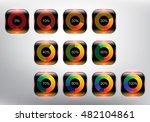 loading spinners or progress...   Shutterstock .eps vector #482104861