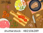 tasty and healthy food for each ... | Shutterstock .eps vector #482106289