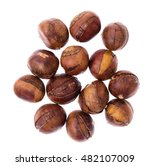 chestnuts isolated on white... | Shutterstock . vector #482107009
