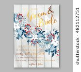 floral wedding invitation with... | Shutterstock .eps vector #482112751