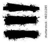 black ink banner with ink... | Shutterstock .eps vector #48211285