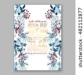 floral wedding invitation with... | Shutterstock .eps vector #482112877