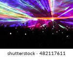 A Laser Light Show At A Concer...
