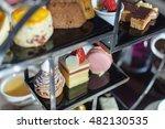 afternoon tea. desserts. sweets. | Shutterstock . vector #482130535