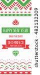 vector happy new year or merry... | Shutterstock .eps vector #482132209
